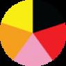 Siyah, Kırmızı, Pembe, Turuncu, Sarı