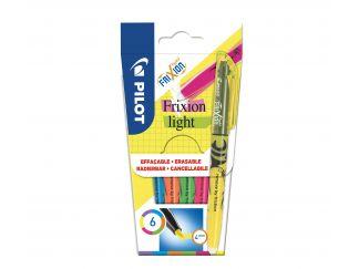 Frixion Frixion Light - 6'lı Paket - Mor, Mavi, Turuncu, Yeşil, Pembe, Sarı - Orta Uç