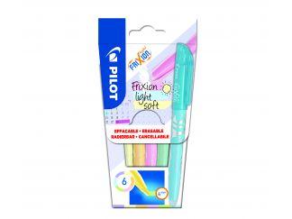 Frixion Frixion Light Pastel - 6'lı Paket - Pastel Mor, Pastel Sarı, Pastel Turuncu, Pastel Pembe, Pastel Yeşil, Pastel Mavi - Orta Uç